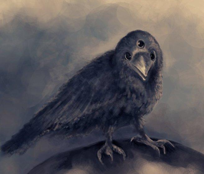 three_eyed_crow_by_margaw-d5ynrdp